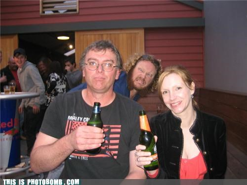 awesome beer Bombosaurus epic beard metal Motley Crue Party photobomb