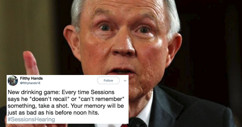 Collection of the craziest and most ridiculous moments and tweets from the Jeff Sessions hearing.