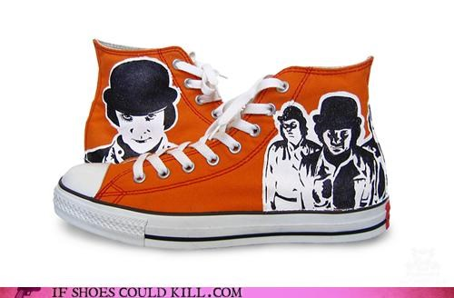 A Clockwork Orange converse hand painted - 3990045184