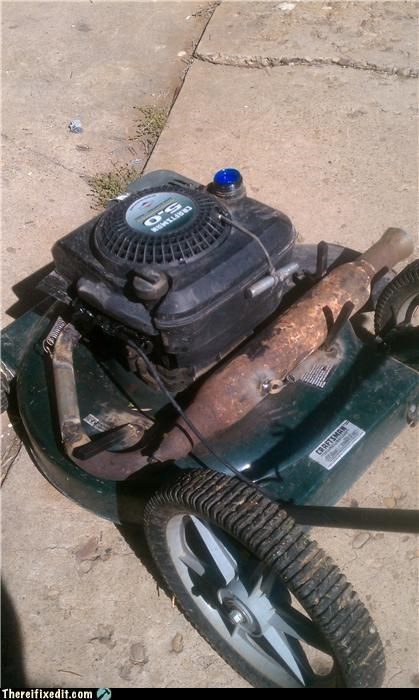 after market,exhaust,Kludge,lawnmower