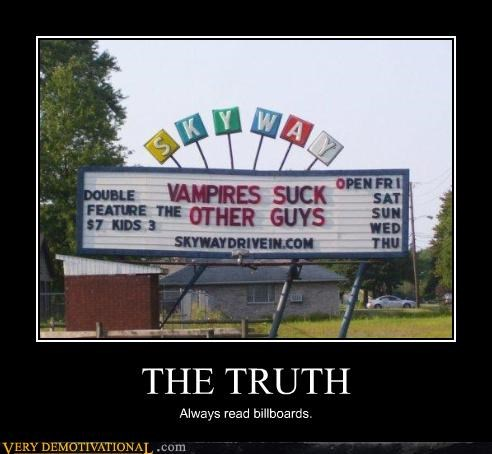 advertising,billboards,cinema,hilarious,marquee,movies,parody,truth,vampires