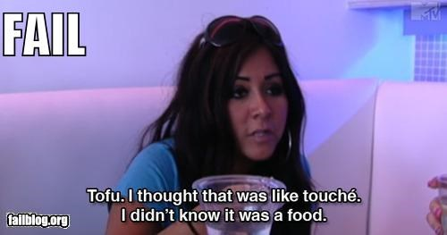 facepalm failboat food g rated jersey shore snooki touché words - 3992102144