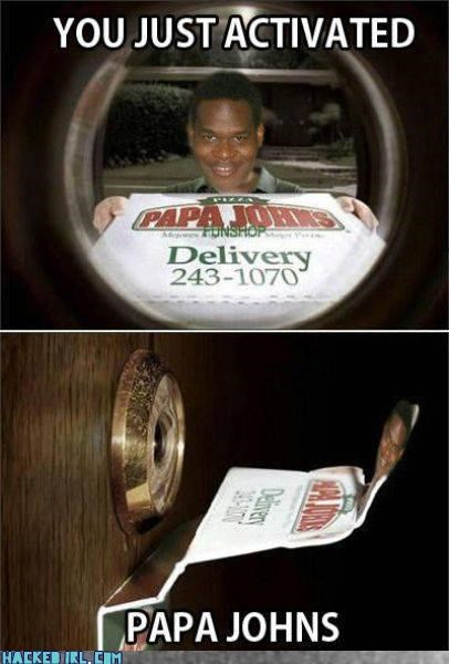 lol,papa johns,pizza