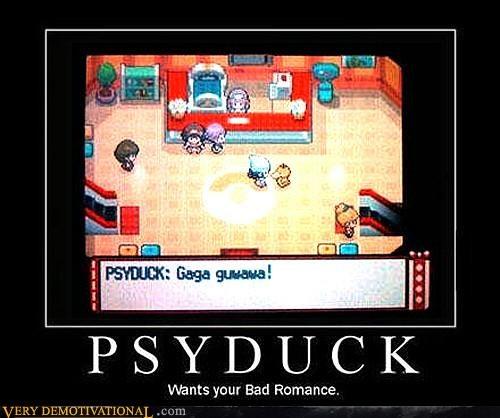 hilarious httplumos-maxima-tumbl lady gaga mashup nintendo Pokémon Psyduck Videogames - 3992113920