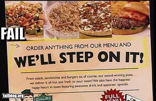 failboat food g rated service sign slogan - 3992360192
