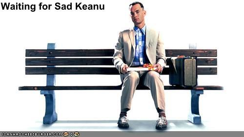 Forrest Gump keanu reeves lolz movies sad keanu tom hanks - 3992398592