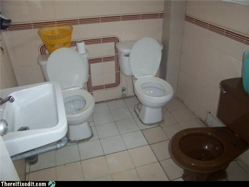 bathroom,Kludge,Professional At Work,toilet,too many