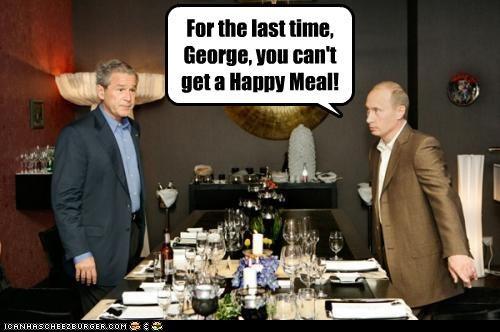 funny,george w bush,lolz,president,republican,Vladimir Putin,vladurday