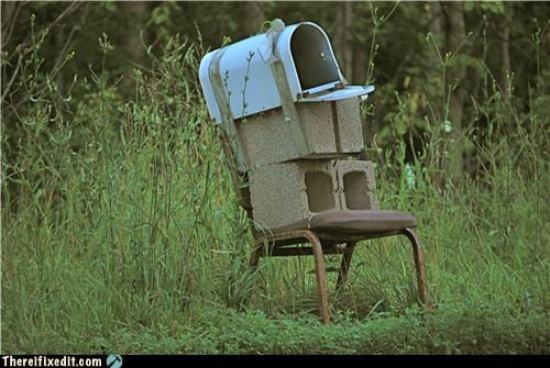 cinder block Kludge mailbox stable - 3993354240