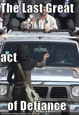 iran lolz Mahmoud Ahmadinejad Protest - 3994040064