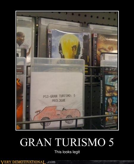 gran turismo 5,idiots,pirated,playstation 3,seems legit,Videogames