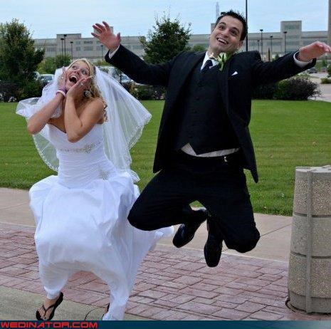 bride in flip flops,Crazy Brides,crazy groom,derp,fashion is my passion,funny wedding photos,groom jumping,hurr derp wedding,nerds,nerds in love,technical difficulties,were-in-love,wedding derp