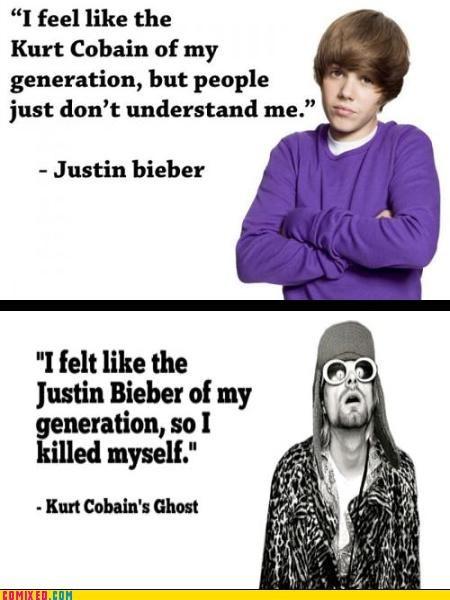 celeb,jk,justin bieber,kurt cobain,Music,nirvana,poll,suicide