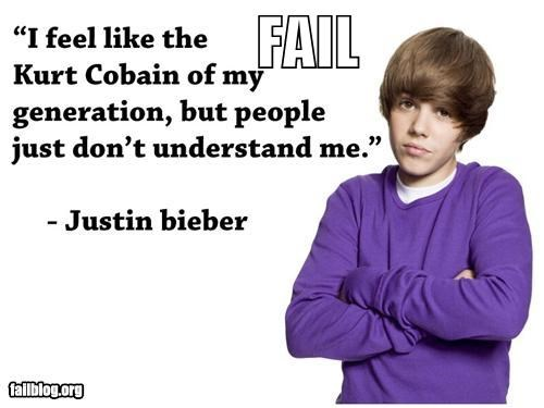 celeb failboat g rated justin bieber kurt cobain Music quotes tweets - 3995978752