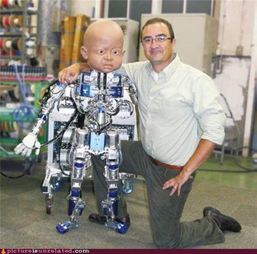 bald children dude robots scary wtf - 3996674560