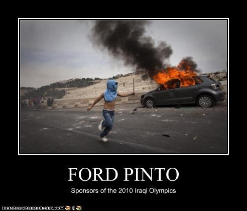 FORD PINTO Sponsors of the 2010 Iraqi Olympics