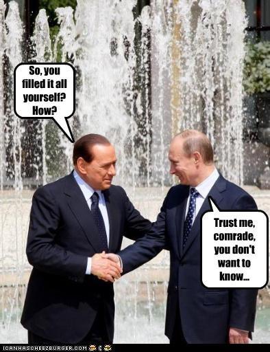 funny lolz silvio berlusconi Vladimir Putin vladurday - 3997500928