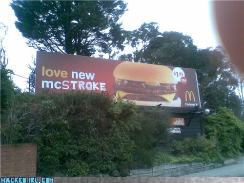 billboard,hacked,McDonald's