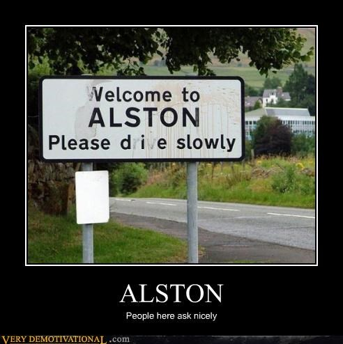 ALSTON People here ask nicely