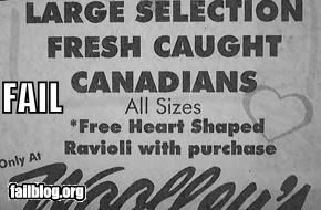 Ad canadian failboat flowers g rated Hall of Fame newspaper poorly worded sold wording - 3999270656