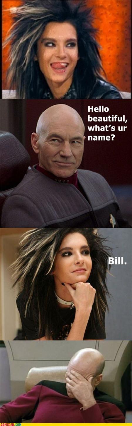 bill,celebutard,facepalm,gay,jean-luc picard,shame,Star Trek,tokyo hotel