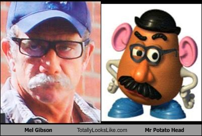 actor disguises mel gibson mr potato head mustache toy story - 4001090560