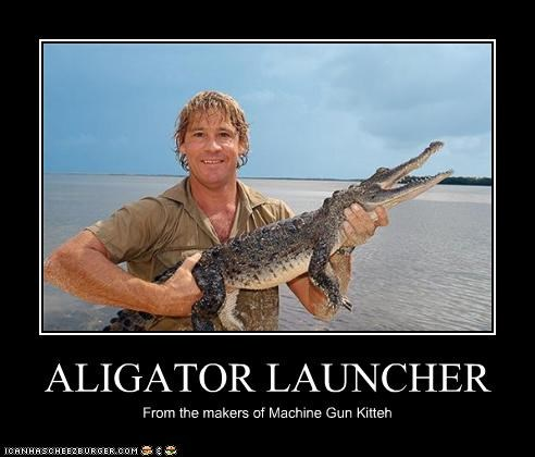 alligator animals guns lolz nature steve irwin weapons - 4001256448