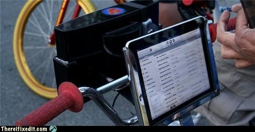 Apple product,bicycle,boombox,ipad