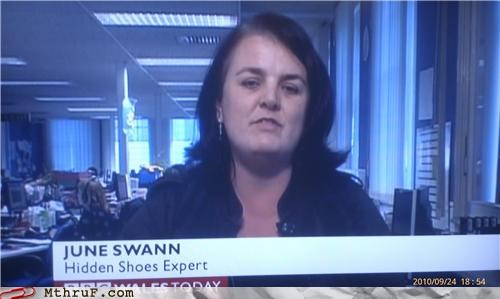 British hidden news shoes television