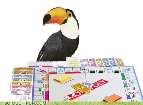 challenge,competition,game,monopoly,toucan,two-player