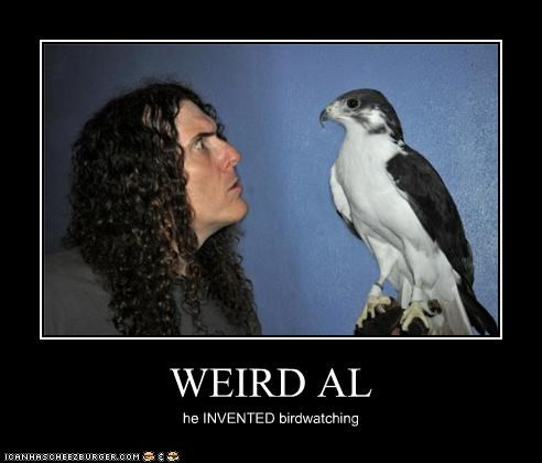 actor animal bird celeb demotivational funny Music Weird Al Yankovic