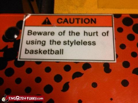 basketball product sports warning