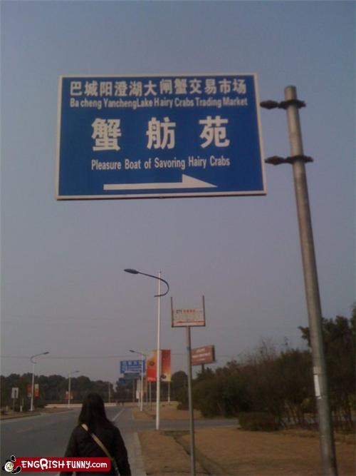 chingrish poorly worded road sign sign