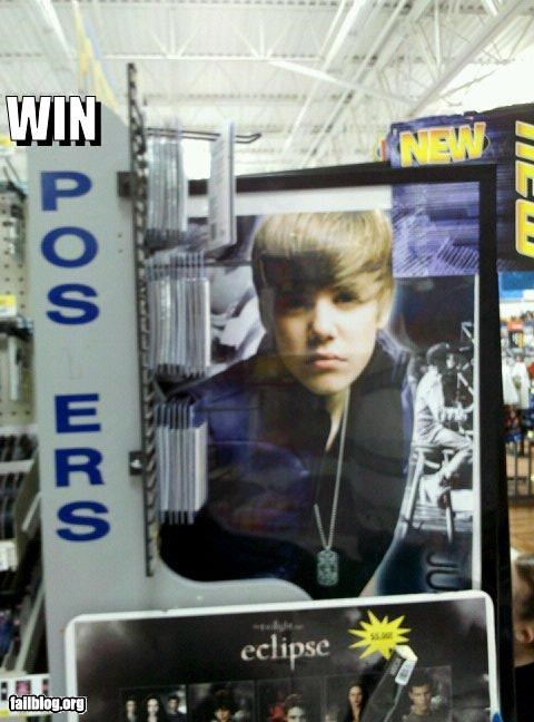 advertisement failboat g rated justin bieber missing letters posters truth win - 4005455360