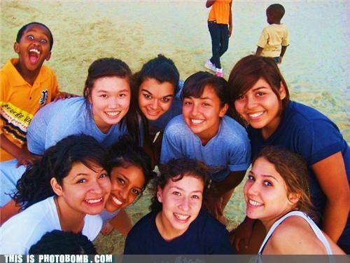 beach excitement kids Kids are Creepers Too photobomb woo hoo - 4005492480