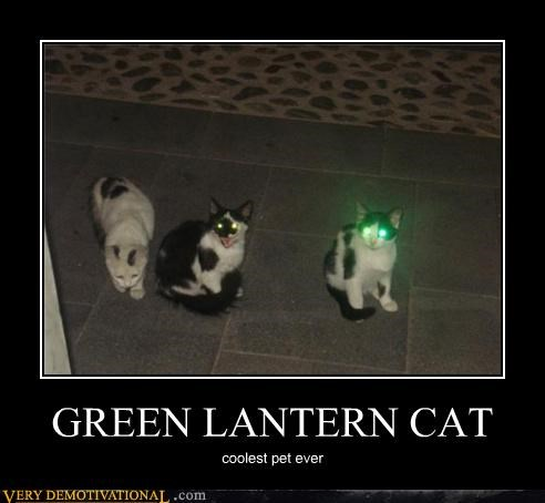 animals awesome cat Green lantern impossible pets - 4005583104