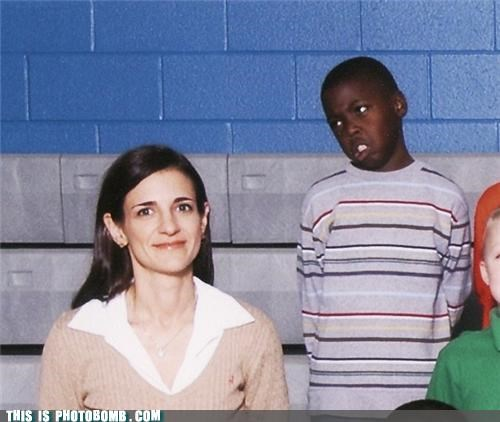 awesome,dread,kids,photobomb,picture day,school