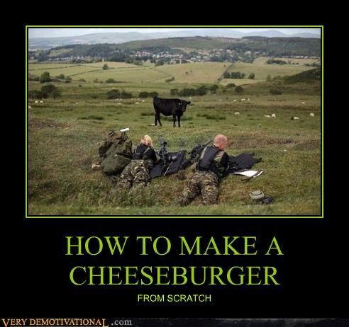 HOW TO MAKE A CHEESEBURGER FROM SCRATCH