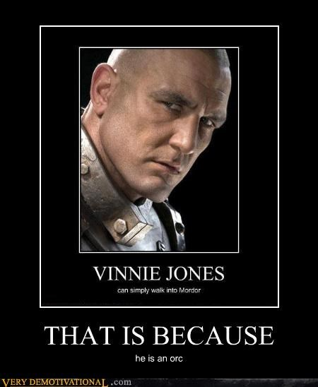 celeb,Lord of the Rings,mordor,orcs,Terrifying,Vinnie Jones,walking