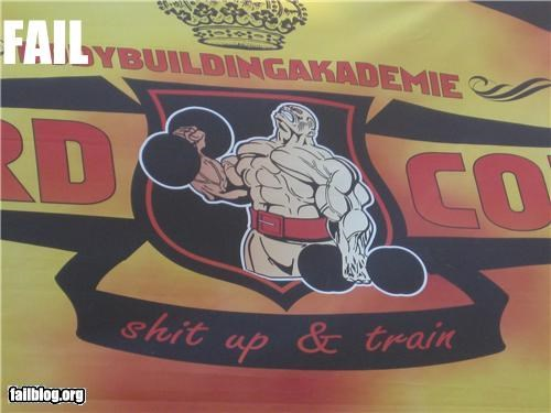 banner failboat g rated gym slogan spelling tough guys - 4006383616