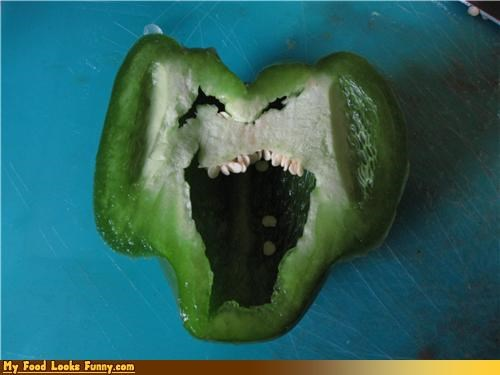 face fruits-veggies funny jokes laughing pepper sliced smile - 4006591232