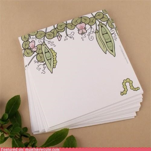decorated note paper notes Office paper personal stationary sweet pea writing