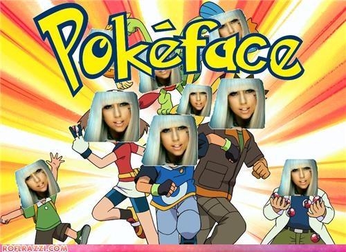 Extras,lady gaga,Pokémon,poker face,puns