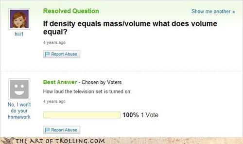 density Mass Media television volume
