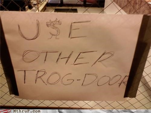 broken,door,trogdor,win