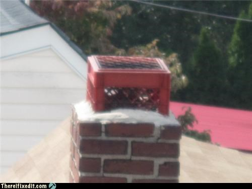 chimney fire hazard Kludge milk crate spark arrest - 4008068352