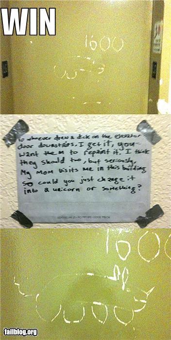 art drawings elevator doors failboat mothers notes p33n unicorns win - 4008673792