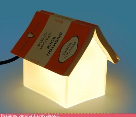 bedside book cute cute-kawaii-stuff furniture house lamp reading