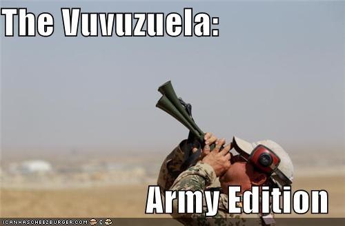 army funny lolz meme soldier vuvuzela wtf - 4009519360