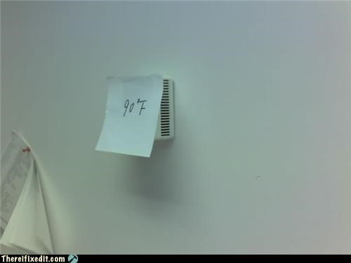 air conditioner,Office,pen and paper,thermostat
